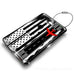 American Flag Runway Luggage Tag
