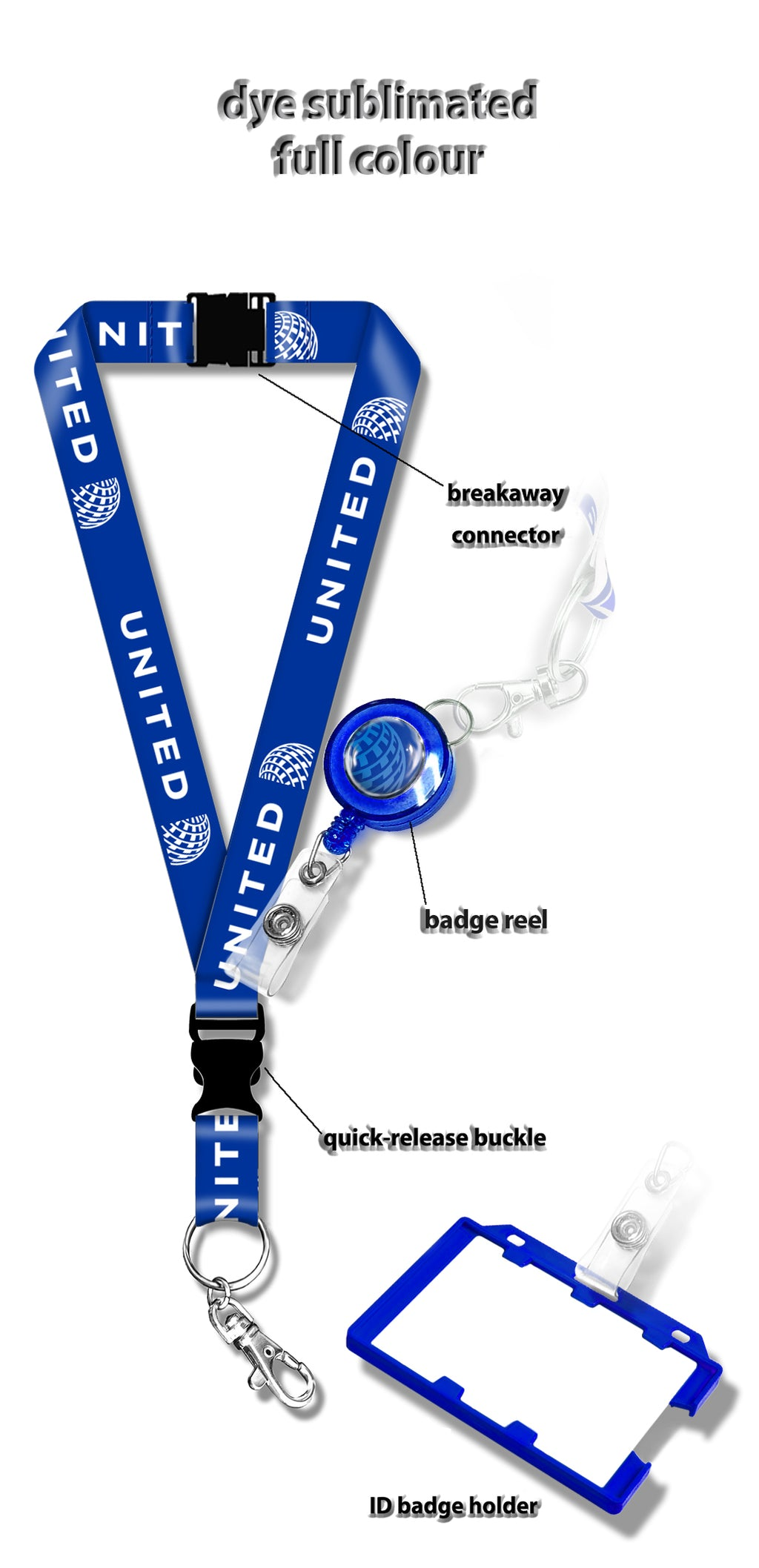 United Airlines BLUE Lanyard