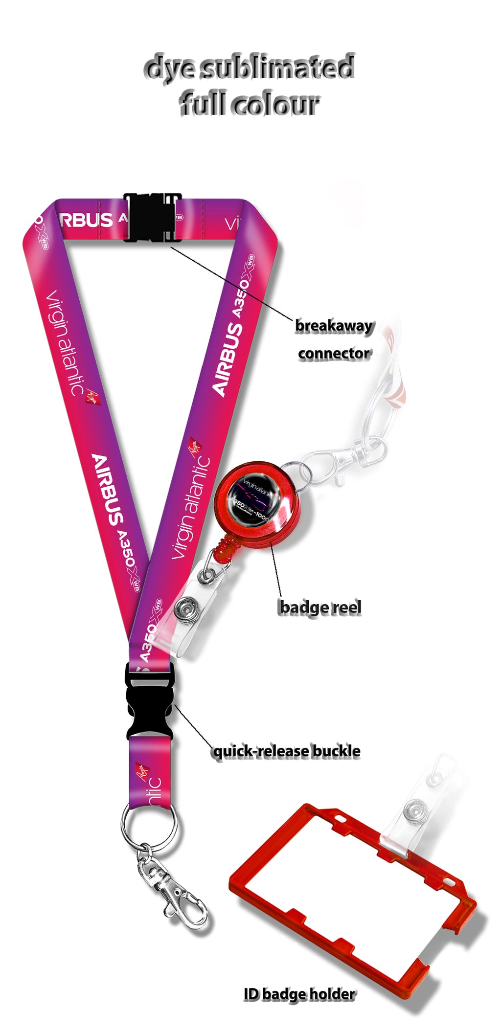 Virgin Atlantic A350-1000  X-WB Lanyard