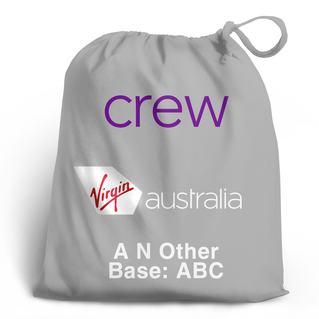 Virgin Australia Crew Personalised Shoe Bag