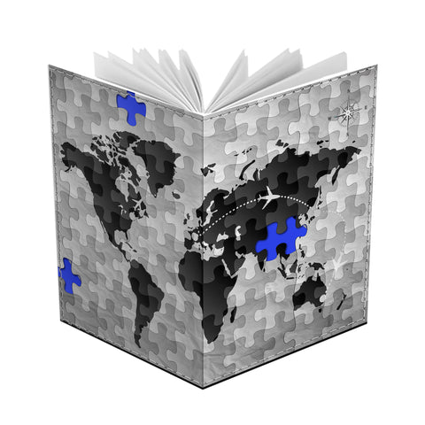 World Map Jigsaw - Passport Cover