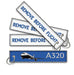 A320 Remove before flight keyring