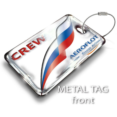 Aeroflot Logo Luggage Tag