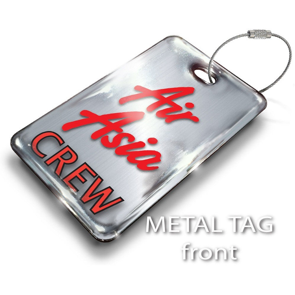 Air Asia Portrait Steel Effect Luggage Tag
