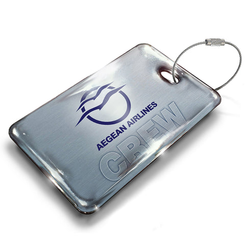 Aegean Airlines Logo Crew Luggage TAG