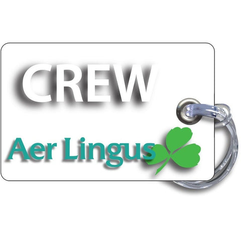 Aer Lingus Landscape White Luggage Tag