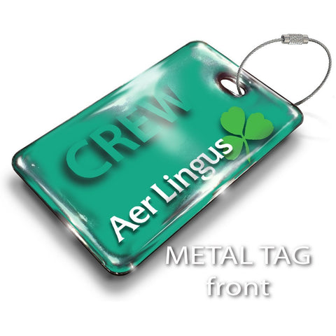Aer Lingus Landscape GREEN Luggage Tag