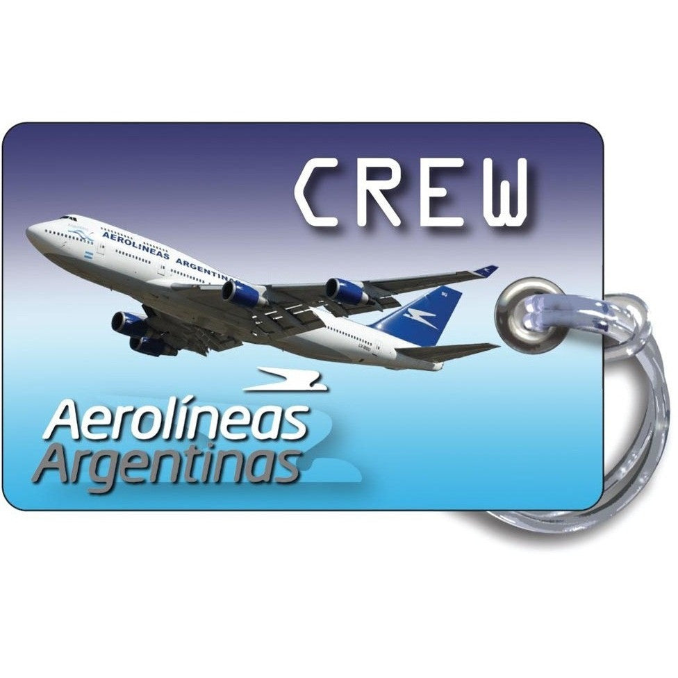 Aerolineas Argentinas B747 Blue Skies luggage tag
