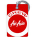 Air Asia Logo Portrait Luggage Tag