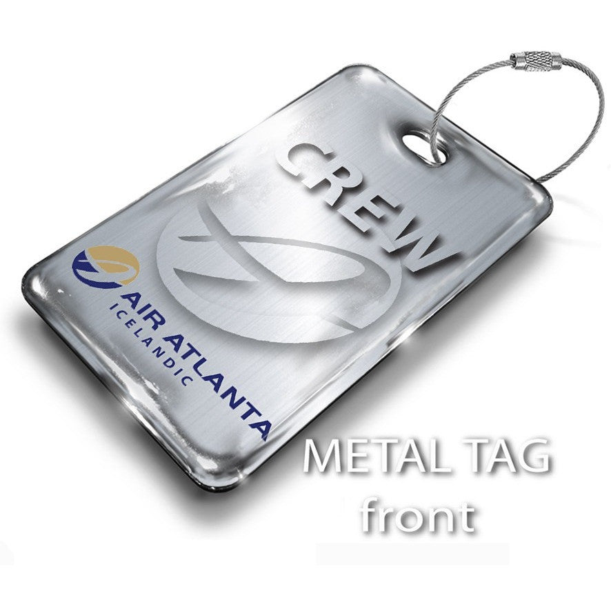 Air Atlanta Portrait Luggage Tag