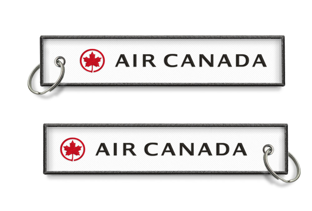 Air Canada Logo Embroidered Keyring