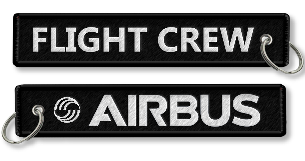 AIRBUS-Flight Crew-BagTag-BLACK