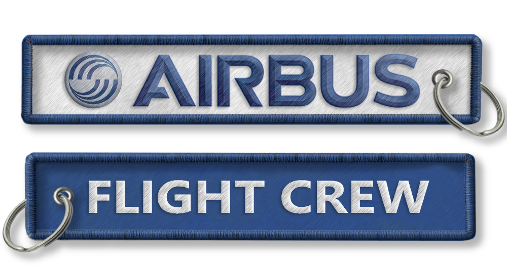 AIRBUS-Flight Crew Embroidered Keyring