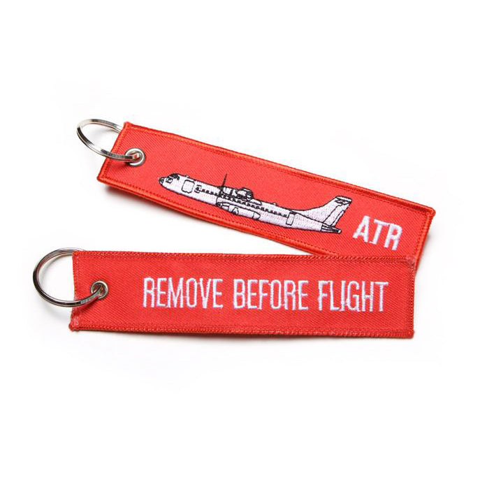 ATR Remove before flight embroidered key chain