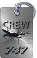 BA B747 Portrait Steel Effect