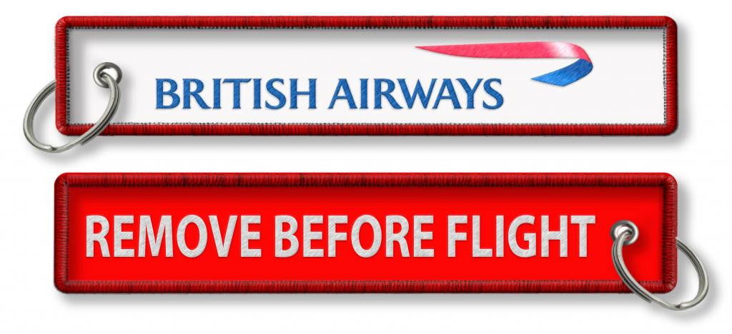 BA Remove before flight White/Red