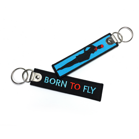 Born To Fly-Embroidered Keyring