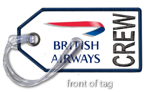 British Airways- Embroidered Tag