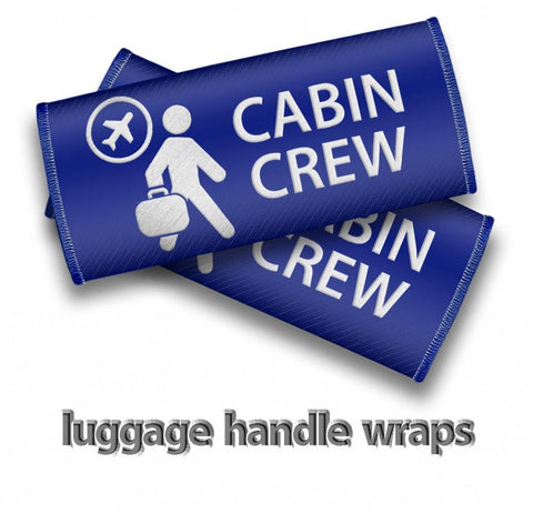 Cabin Crew- Luggage Handles Wraps-BLUE