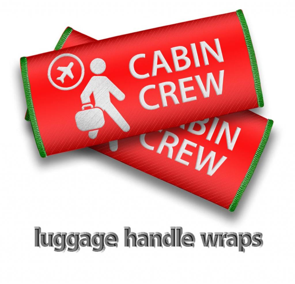 Cabin Crew- Luggage Handles Wraps-RED
