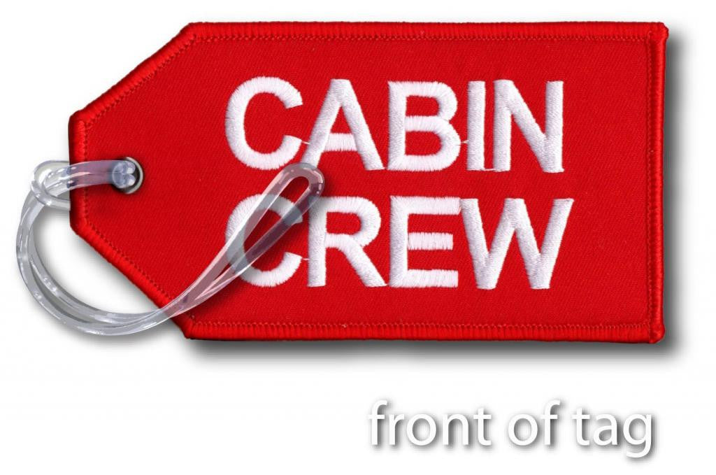Cabin Crew-Embroidered Tag