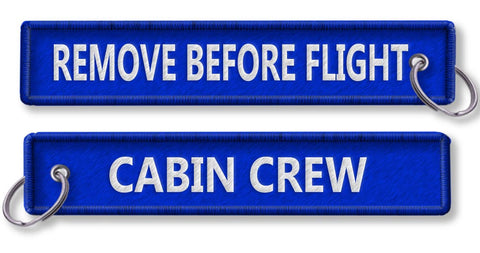 Cabin Crew-Remove Before Flight-BLUE