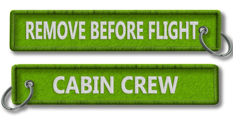 Cabin Crew-Remove Before Flight-GREEN