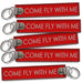 Come Fly With Me Embroidered Tag