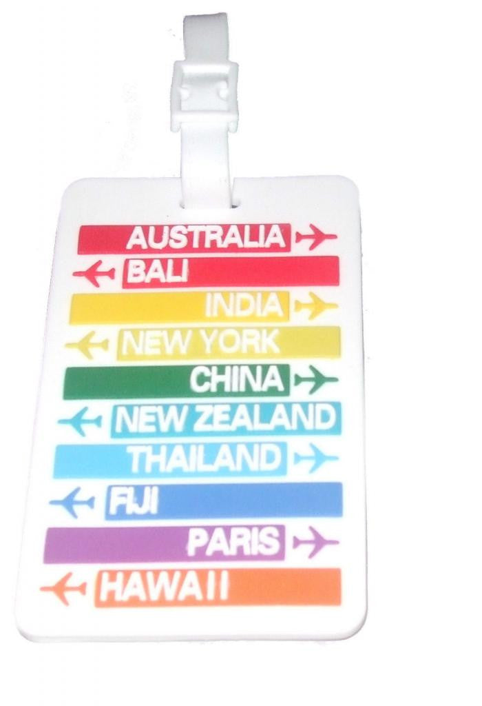 Countries-2D Rubber Tag