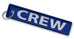 CREW Embroidered Keyring (NO BUCKLE)-BLUE