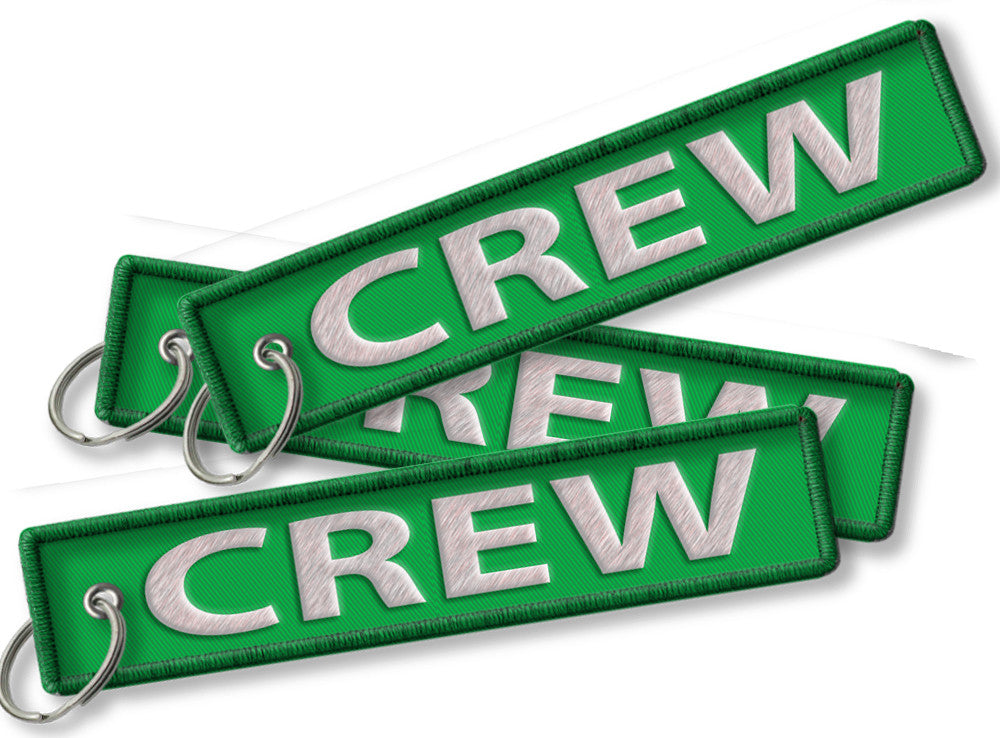 CREW-BagTag-LIGHT GREEN