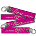 Diva Own This Bag Keychain