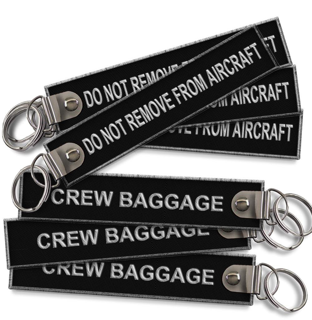 Do Not Remove From Aircraft-Crew Baggage keychain