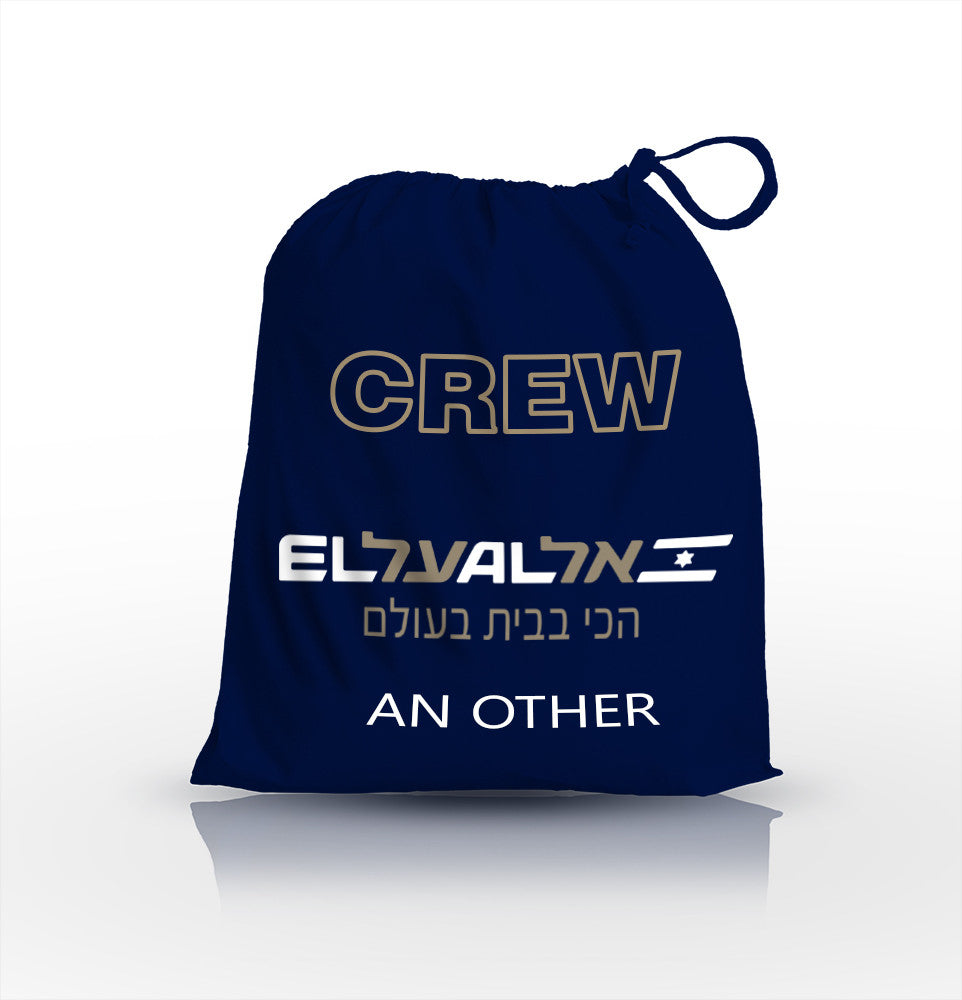 El Al Airlines Crew-Personalised Shoe Bag
