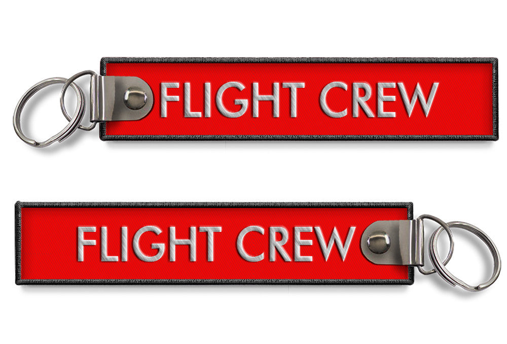 Flight Crew Embroidered Keyring (RED)