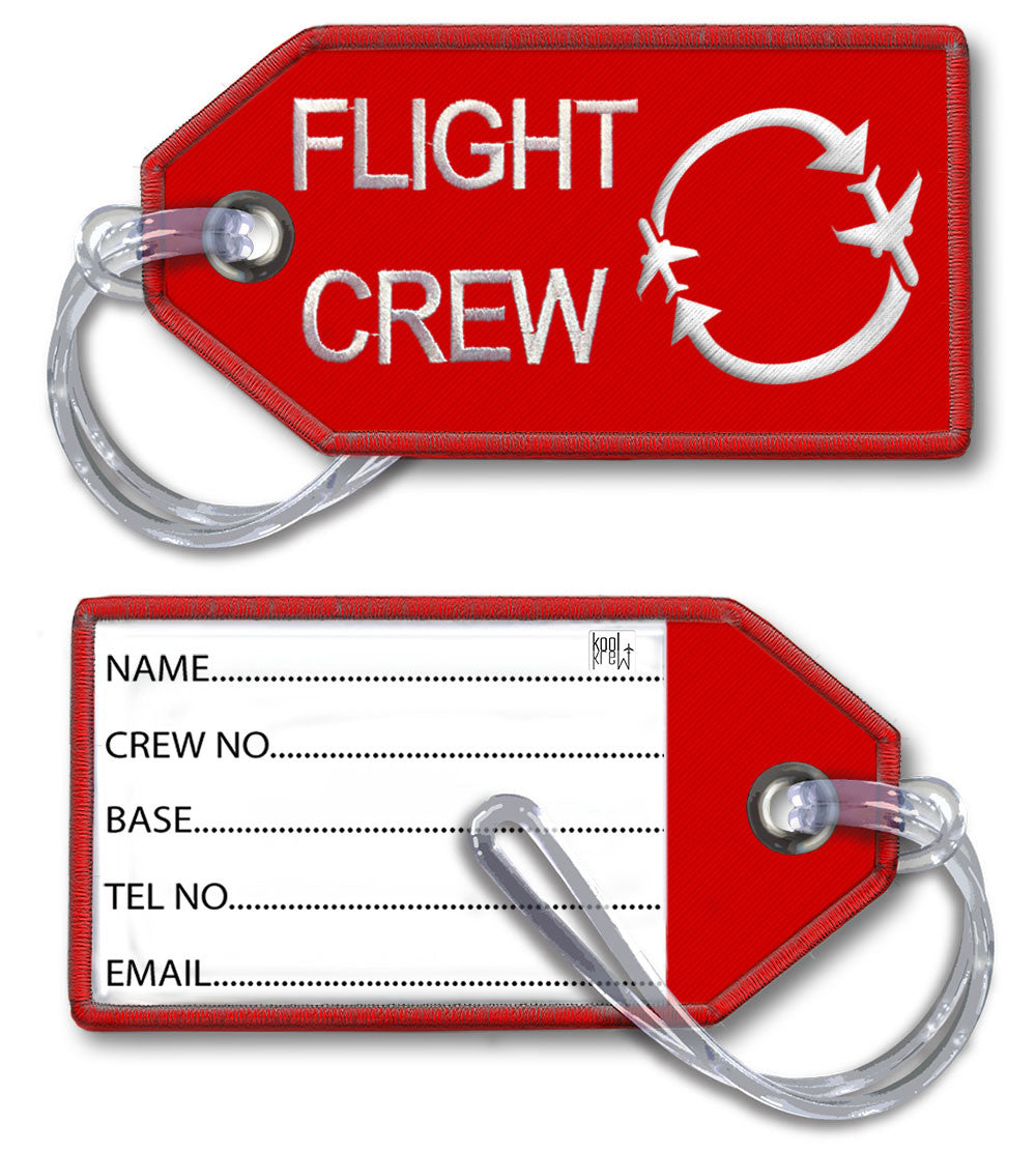 FLIGHT CREW-BagTag(Red LARGE)