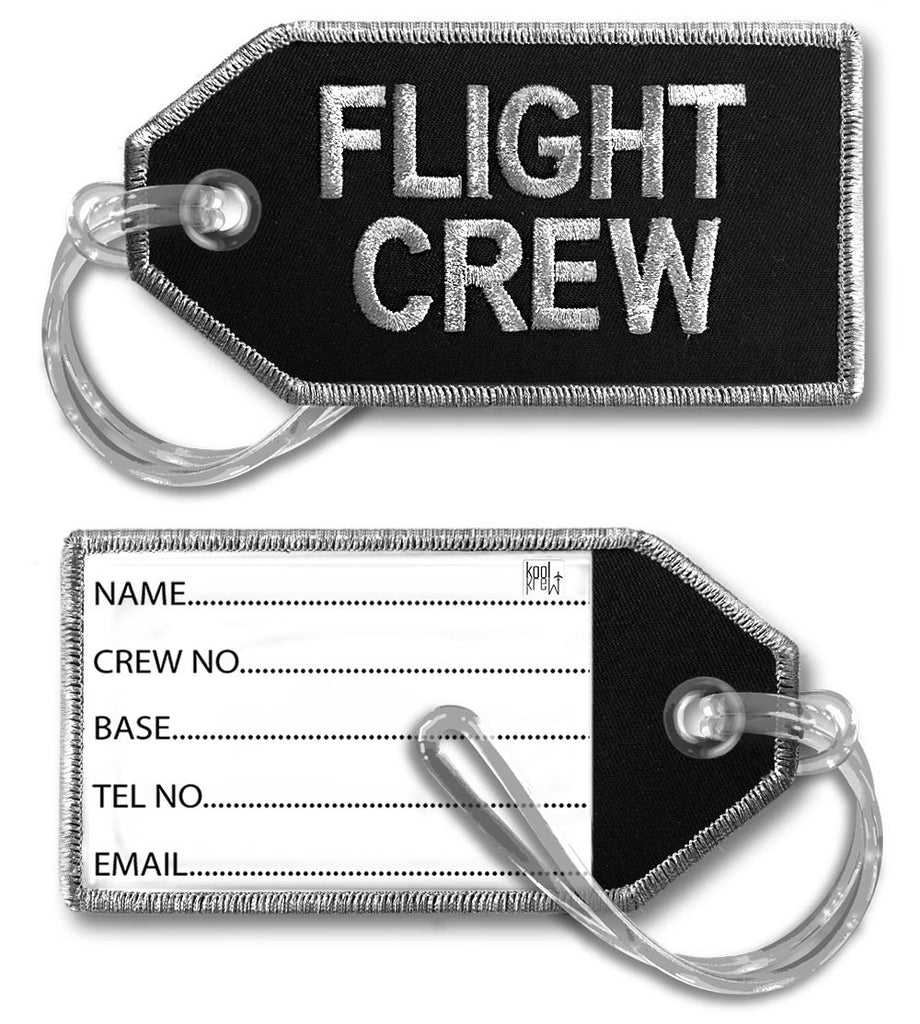 FLIGHT CREW-BagTag-Black/Silver