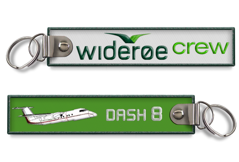 Wideroe Dash 8 Embroidered Tag