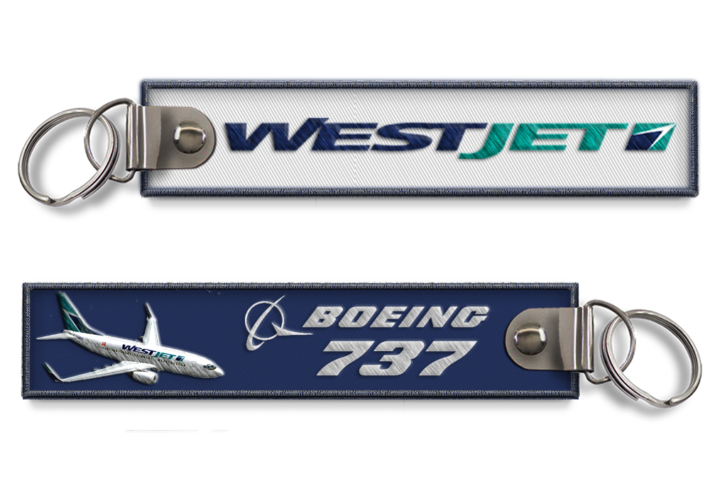 Westjet-B737 Embroidered BagTag(Old Logo)