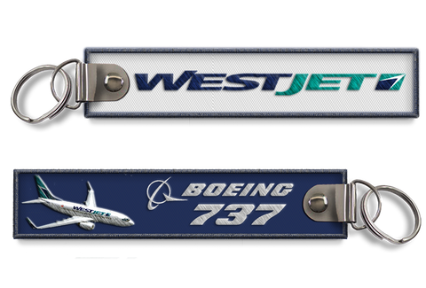 Westjet-B737 Embroidered BagTag