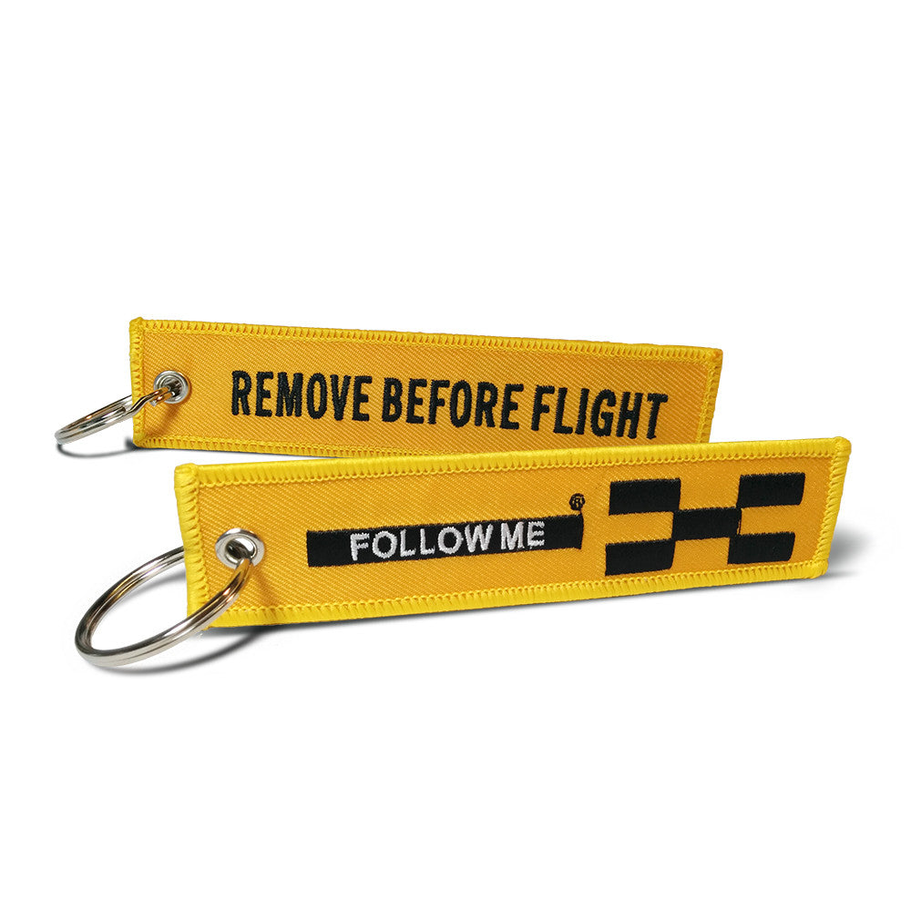 FOLLOW ME- Remove Before Flight