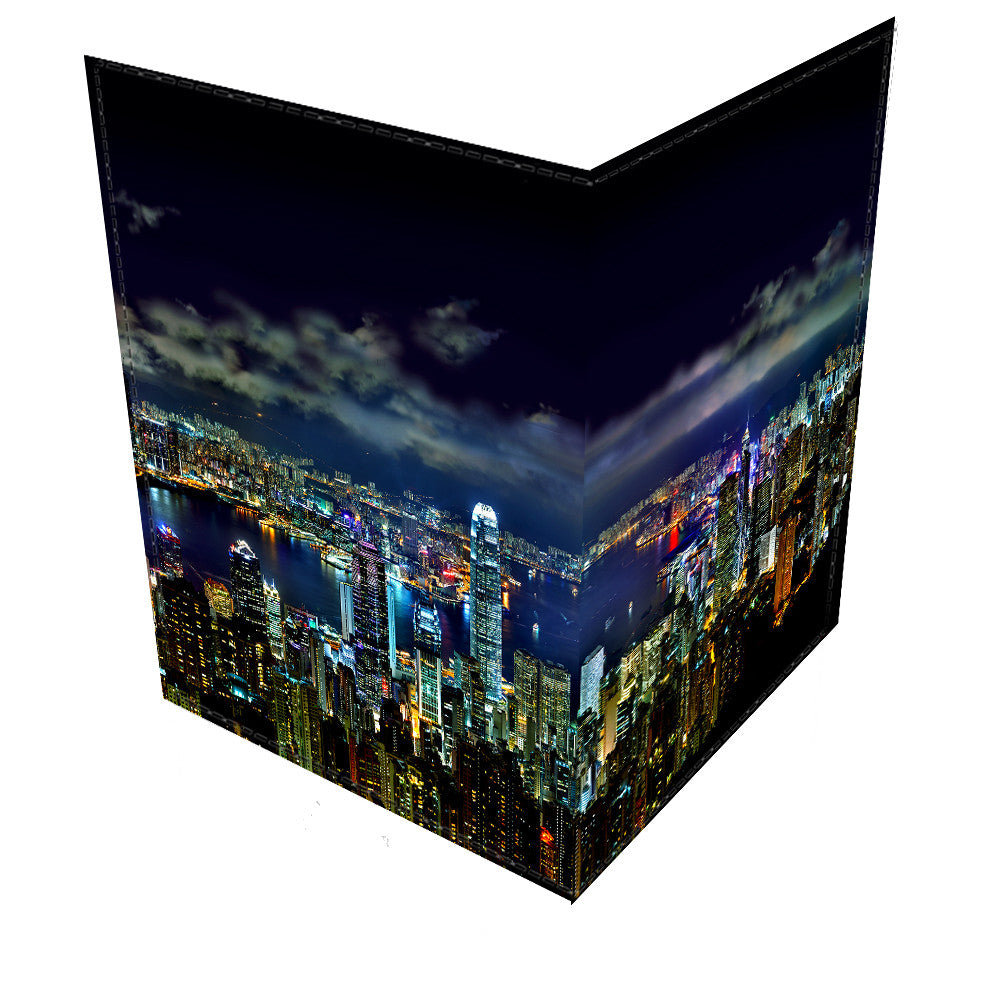 Hong Kong At Night-Leather Passport Cover
