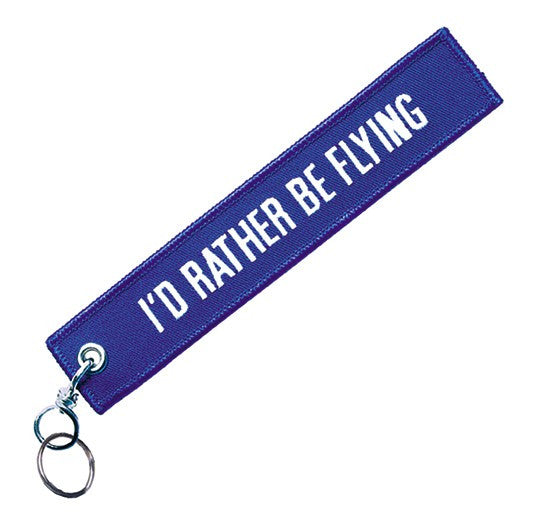 I'd Rather Be Flying-Embroidered Tag