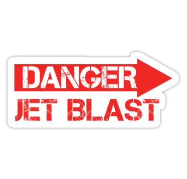Danger-Jet Blast Stickers