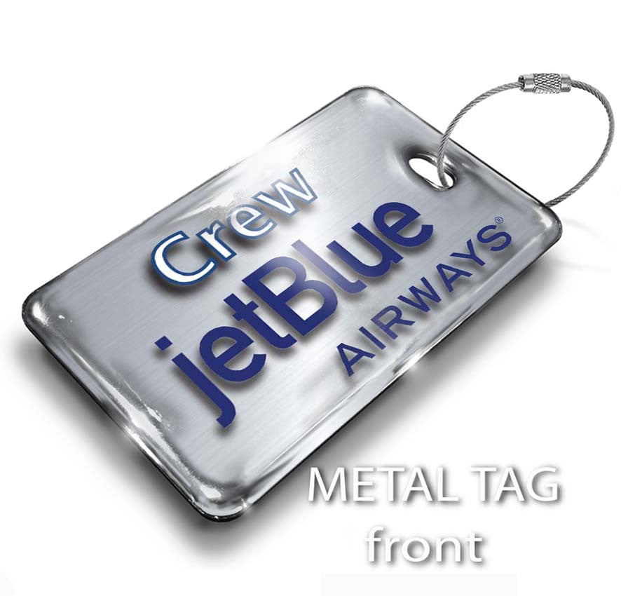 JetBlue Landscape Steel Effect Front (Old Logo)