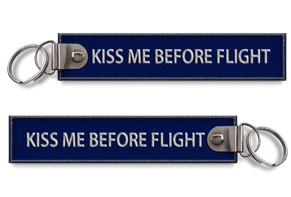 KISS ME BEFORE FLIGHT-(BUCKLE)Blue