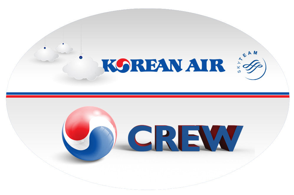 Korean Air Logo 3D Oval Stickers