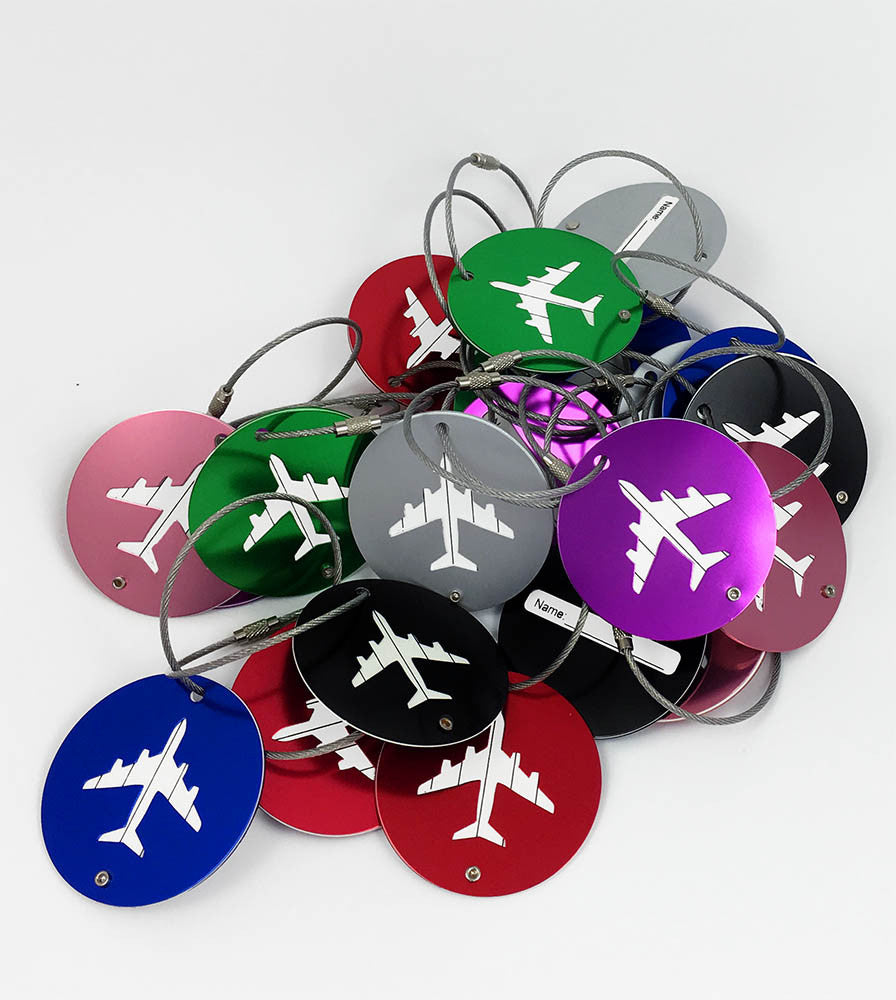 Mudder Aluminium Luggage Tag Round