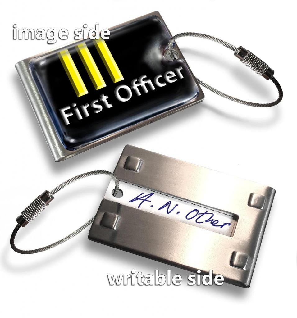 First Officer 3Bars(Writable Reverse) Tag