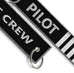 Pilot 4 Bars Flight Crew SILVER-Keychain